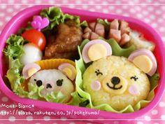 幼稚園の子供用お弁当☆くまの親子の画像