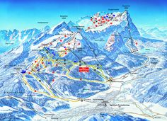 Garmisch-Partenkirchen ski map - fond memories of winter holidays here! Germany In Winter, Germany And Italy, Bavaria Germany, Surf, Ski Holidays, Trail Maps, Snow Skiing, Germany Travel, Location