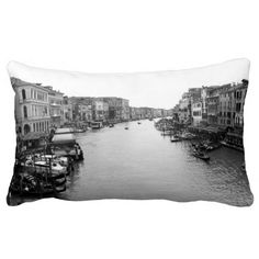 View from the Rialto Bridge across Venice $15 off pillows with Zazzle black friday deals!