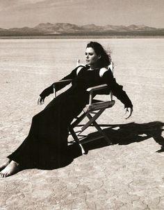 Tough Act - Carre Otis photographed by Gilles Bensimon for Elle US, April 1994
