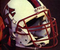 The NC State Wolfpack helmet.