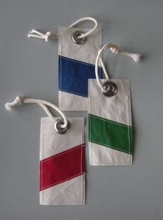 Recycled Sail Luggage Tag $12 // reiter8