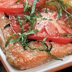 Grilled Salmon with Tomatoes - Neuropathy