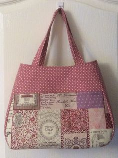 Ethel tote bag from a free download at www.swoonpatterns.com