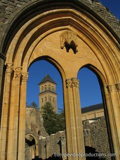 Europe Video Productions Travel Photo: Belgium – Tourism in Orval – Orval Monastery – Orval Abbey – Tourism in Belgium Bruges, Photo Voyage, Ardennes, Belle Villa, Travel Videos, European Countries, Barcelona Cathedral, Travel Photos, Castle