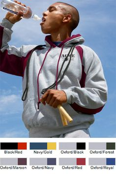 #badger #hooded #fleece #corporate #sweatshirts $34.43 Features: Ring-spun 60% cotton, 40% polyester; contrast rib trimmed 2-ply hood with contrast liner and draw-cord; contrast side and sleeve panel inserts; spandex reinforced rib-knit cuffs and waistband; front pouch pocket with headset opening; left-sleeve cuff logo embroidery; 9.5-ounce.   http://ezcorporateclothing.com/custom/105-Hooded-Sweatshirts/871-Badger-Hook-Hood-Fleece/