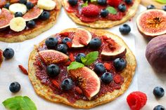 Pancake breakfast pizzas