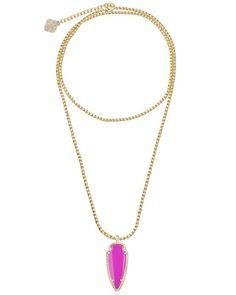 Shaylee Pendant Necklace in Magenta - Kendra Scott Jewelry