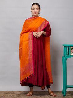 All Dupattas - Dupattas - Clothing Dress Indian Style, Indian Dresses, Indian Outfits, Indian Attire, Indian Ethnic Wear, Indian Designer Suits, Kurta Designs Women, Salwar Kameez, Churidar
