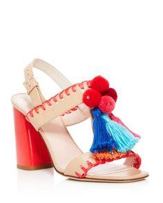 19c68650ea0b kate spade new york Central Tasseled Block Heel Sandals Shoes - All Shoes -  Bloomingdale s