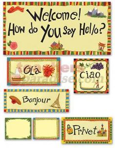 46 Piece Multicultural Hello Bulletin Board Cut Out Set Multicultural Bulletin Board, Diversity Bulletin Board, Multicultural Activities, Art Activities, Classroom Displays, Classroom Themes, Welcome Bulletin Boards, How To Say Hello, Harmony Day