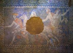 """""""The Rapture Of Persephone"""" #Amphipolis excavation is revealing magnificent works of arts: Abduction of Persephone mosaic #Greece"""
