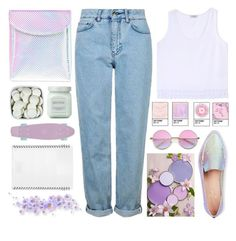 """""""UNICORNS"""" by dianakhuzatyan ❤ liked on Polyvore featuring Topshop, Current Mood, Edun, Laura Mercier, L'ATELIER d'exercices, Retrò, Kate Spade, Pink, purple and unicorns"""