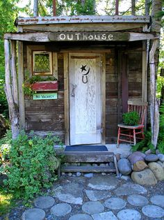 This is just to cute. Must say I've never seen an outhouse like this before.