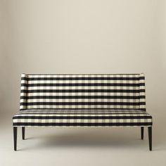 Lenox Bench -Windowpane Plaid | All Furniture | Furniture