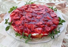 StrawberryTortenboden, german Strawberry Torte