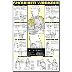Shoulder Workout 24` X 36` Laminated