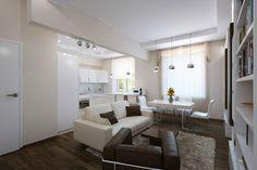 Apartament de 60 mp cu 2 camere în culori neutre Design Case, Flat Design, My Dream Home, My House, Small Spaces, House Design, Couch, Interior Design, Modern