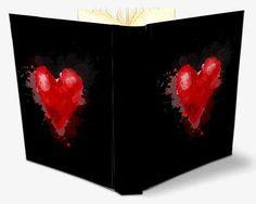 Album foto con copertina con cuore rosso