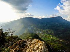 Vue depuis le mont Tarbent - Makouda - Kabylie - Algérie - Maghreb - Afrique - Terre