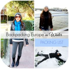 If you're wondering what to pack for Europe in Winter, these packing list ideas and travel outfits will help you pack fashionably and light!