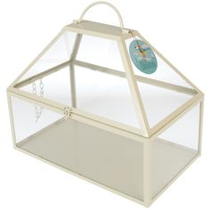 DotComGiftShop | Large Greenhouse Hinged Roof Ivory | Geschenke | Home | Wohnaccessoires