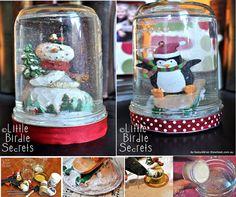 Christmas Ideas - Million Ideas Club Christmas Ornament Crafts, Holiday Crafts, Christmas Crafts, Christmas Ideas, Christmas Stuff, Christmas Snow Globes, Christmas Shows, Christmas Present Themes, Ugly Christmas Shirts