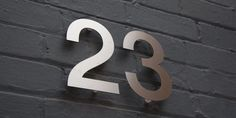 Modern House Numbers, Stainless Steel House Numbers, Designer House Numbers, Door Numbers, UK – Goodwin & Goodwin™ - Signs that Rock! Door Numbers, House Numbers, Grand Designs Magazine, London Sign, Sign Maker, Led Neon Signs, Steel House, House Doors, Metal Homes