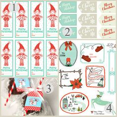 Round up of lots of free printable holiday and Christmas gift tags