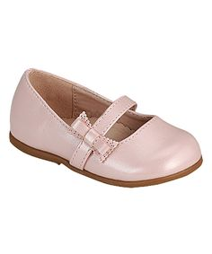 This Pink Layered Bow Della Mary Jane by PINKY FOOTWEAR is perfect! #zulilyfinds