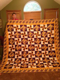 Braden's LSU Quilt. Louisiana Block Pattern