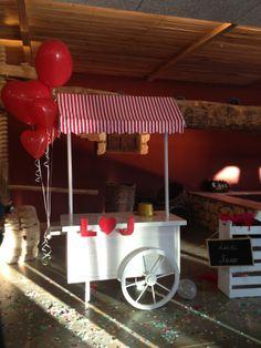 Nuestro candy bar como Photocall en una boda