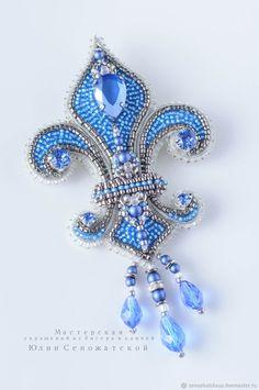 Из бисера- wire, seed beads, crystals, Swarovski pearls