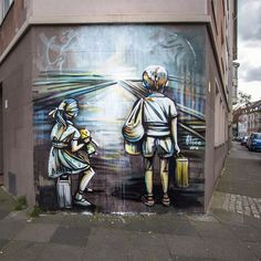 This just damn beatiful by @alicepasquini in Dortmund  based around the thoughts of immigration #art #streetart #de #dortmund #alicepasquini cc: @romephotoblog who I'm much appreciative to for keeping me in the loop on Alice's works by londongraffiti