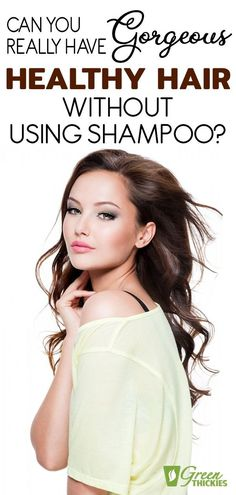Do you think it's possible to get gorgeous healthy hair without shampoo?  This is called 'no poo'.  Find out how to go 'no poo' in this easy tutorial.