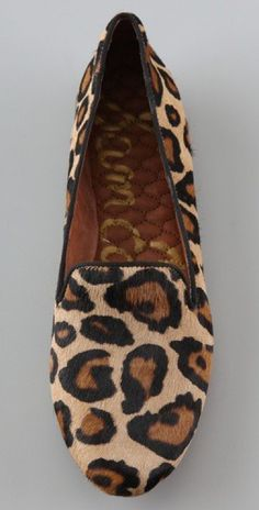 Sam Edelman Leopard Loafers. These would be so great for fall, or winter, or spring or summer... I would wear them every day.
