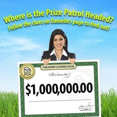 The Prize Patrol has been dispatched and only Danielle is giving clues about their location! Head to her fan page on Facebook now and see if you can figure out where the van is headed. http://bit.ly/DaniellePCHFb #PCH