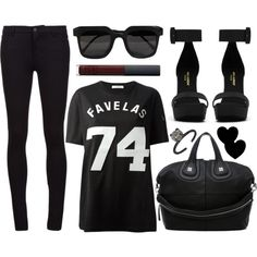 A fashion look from March 2014 featuring Givenchy t-shirts, Vince jeans and Yves Saint Laurent sandals. Browse and shop related looks.