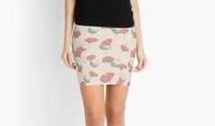 Delicate Ginkgo & Dots #redbubble #decor #buyart by designdn Mini Skirts