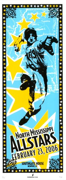 North Mississippi All Stars poster by Powerhouse Factories