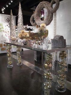 Cylinder vase table legs