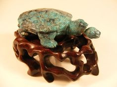 Antique Snuff Bottle Chinese 19th Century Turtle by megsantiques