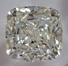 2.81-Carat Cushion Modified Brilliant Cut Diamond  This Fancy-cut G-color, and SI1-clarity diamond comes accompanied by a diamond grading report from GIA  $26627.56