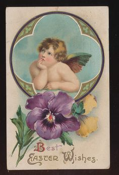 Angel on an Easter Card