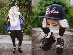 #nu #estilo #remera #hippie #psy #gorra #badass #rosa #negro #tachas #puas #plataforma #campera #pantalon