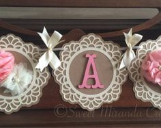 Vintage Lace and Burlap Baby Shower Its a Girl Banner Peachy Pink and Ivory Flower Burlap Baby Showers, Lace Baby Shower, Baby Shower Vintage, Girl Shower, Girl Baby Shower Decorations, Girl Decor, Baby Shower Centerpieces, Cricut Baby Shower, Baby Shower Cards