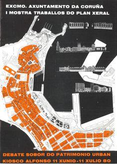 Excmo. Axuntamento da Coruña, I Mostra traballos do Plan Xeral : debate sobor do patrimonio urbán : Kiosco Alfonso, 11 xunio-11 xulio 80. -- [A Coruña : Concello], D.L. 1982. -- [16] p. : il., fot., planos ; 22 cm. 1. Ordenación do territorio-A Coruña 2. A Coruña-Urbanismo-Proxectos