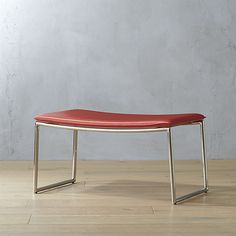 NOT.  Curve looks weird. triumph red-orange ottoman  | CB2