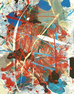 in between the seconds December 2016 by Gil abstract art mixed media on paper ~16″x20″