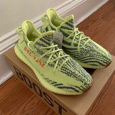 Yeezy Boost 350 Semi Frozen Yellow on Mercari Next Shoes, Adidas Boost, Hype Shoes, Yeezy Shoes, Yeezy 350, 350 V2, Yeezy Boost, Kanye West, Girls Shoes